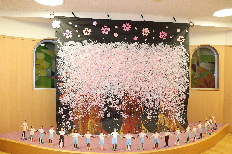ジョイフル守山保育園_20200323_年長児、最後の共同制作「桜」_1