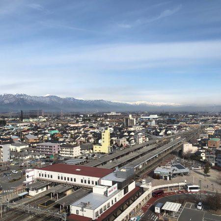 グレイスフル塩尻13階からの冬の眺望